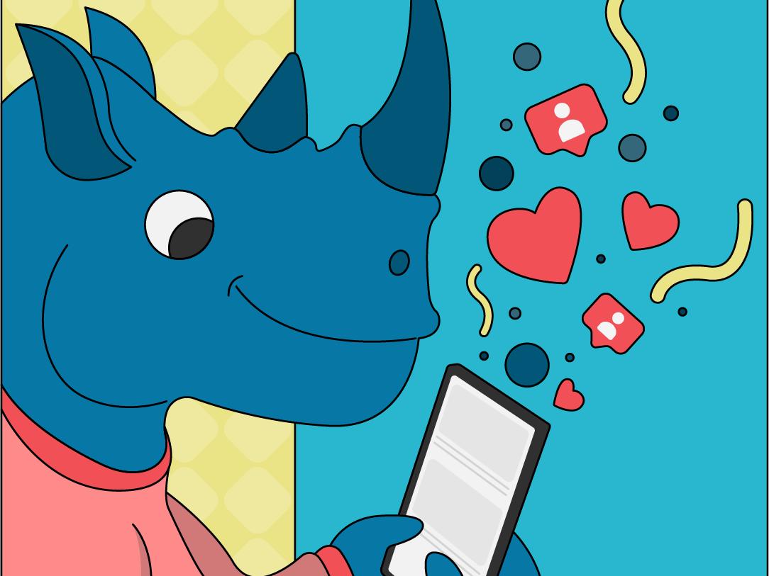 Rhino character characterdesign illustration vector