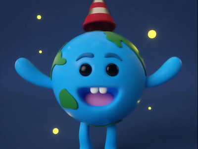 A Little Cute Earth Animation