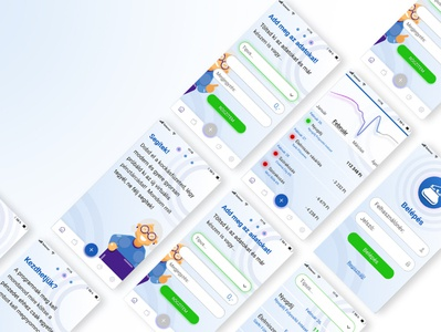 FinTech mobil app concept
