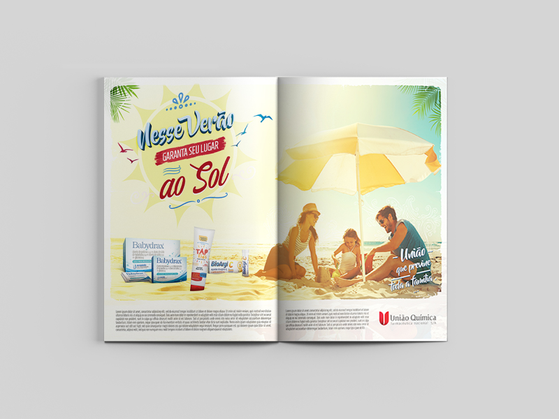 Enjoy the Summer with UQ products sales force summer key visual editorial design