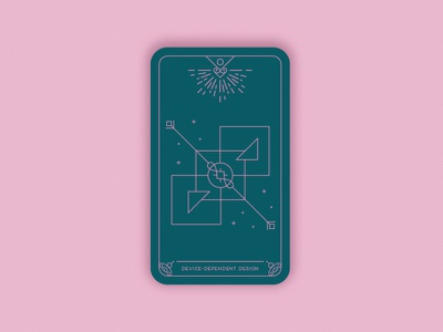 Prediction 2020: The Device-Dependent Design illustration digital vector black magic alchemy geometric design trends magic card card illustration