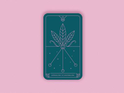Predictions 2020: Minimalism vs Maximalism flower vector illustration art design geometric minimal design trends magic card card illustration