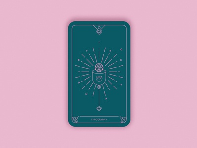 Predictions 2020: Typography geometric minimal vector visual design trends magic card card design card typography