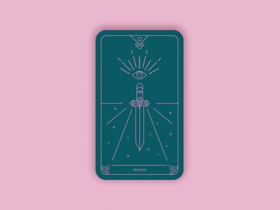 Predictions 2020: Design Trends vectors minimal geometric sword eye creative imaginative vector prediction card black magic magic card ui card card trends design