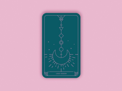 Predictions 2020: Logo Design sunburst rays two colours elegant esoteric trends 2020 card magic magic card trends card design vectorart minimal geometric vector iconic space stars moon