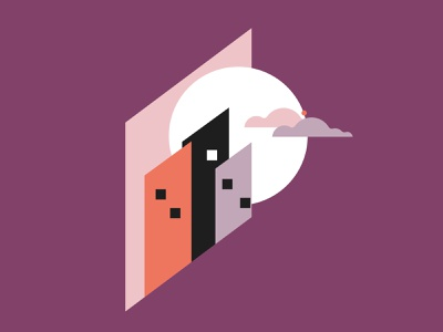 ActionAid Illustrations geometric design geometric minimal vector brand illustration branding actionaid city moon illustration drawings landscape building buildings