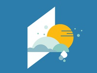 ActionAid Illustrations branding concept branding design branding simple illustration positive vibes weather rainy cloudy sunny minimal ui geometric vector illustration