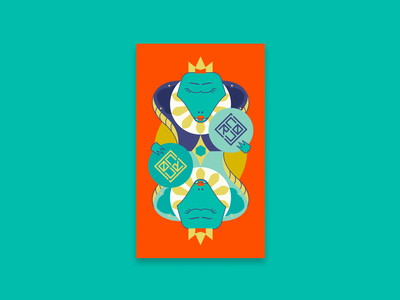 Croc Royal: The Queen graphic design branding funny card vector design illustration playing card