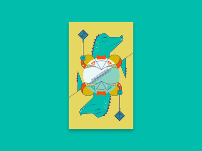 Croc Royal: The Jack graphic design branding card funny vector design illustration playing cards