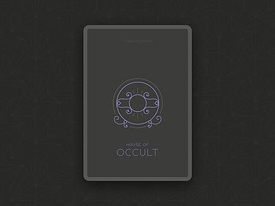 House of Occult drop caps pattern geometric latin dark illustration ui game card