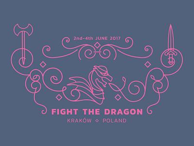Fight the Dragon arms myth poland event dragon flourishes illustration fight