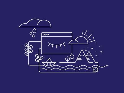 Service Workers web design letterpress concept illustration illustrations smashing book