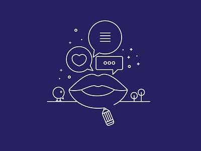 On Designing Conversations web design letterpress concept illustration illustrations smashing book