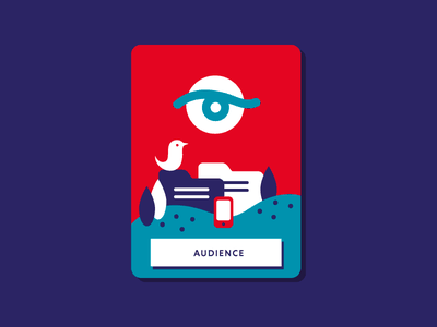 Audience for Digital Policy card print landscape bird eye colourful book illustration illustration digital digital policy audience