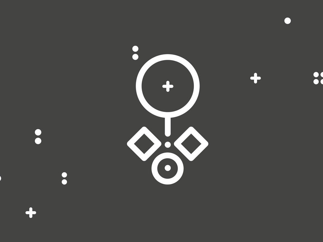 The Faultless Designer black and white vector minimal magnifier focus design illustration