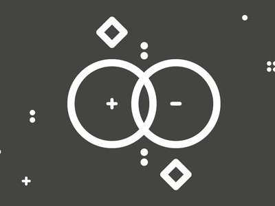 The Faultless Designer black and white vector minimal circles design illustration