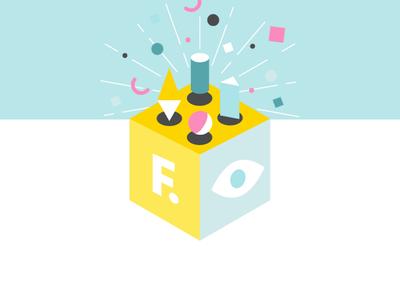 Shape Box vector graphicdesign cube abstract design geometric shapes front-development eye funny illustration design branding frontender