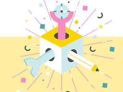 Flexibility vector colourful box abstract illustration graphic flexibility creativity time frontend design development graphic design branding design illustration