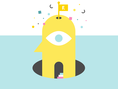Vision stairs hole creative vector illustration graphicdesign flatdesign abstract face eye flag playground growth visionary vision