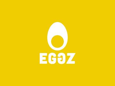 Eggz egg eggs eggz symmetrical symmetric shapely regular spherallettering type white yellow logo portugal portuguese mark designer creative creativity brand freelancer identity icon branding