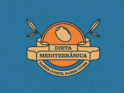 Dieta Mediterrânica mediterranean diet olive brand branding identify logo mark symmetric