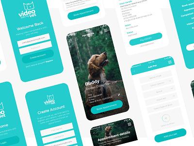 Video with my Pet app ux design flat typography vet ux veterinarian veterinary application design vet app ui web website brand graphic design design