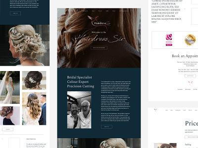 The Hairdress Sir stylist hair stylist white website hair hairdressing hair website hairdresser website hairdresser logo clean minimal flat branding web website brand design graphic design