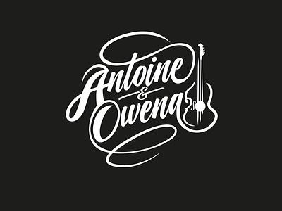 Folk Musician Logo music logo music folk logo folk font violin guitar icon vector logo illustration minimal branding website brand graphic design design