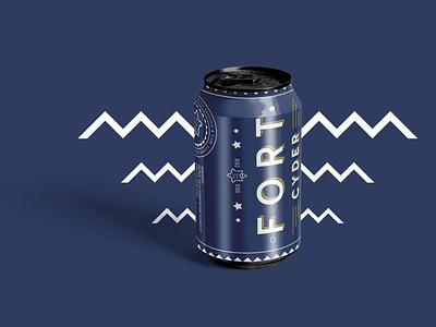 Fort Cyder Can cider packaging cider cyder can cyder packaging typography minimal flat branding brand graphic design design