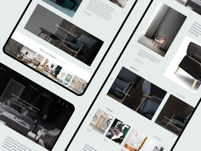 Sasha Muto Concept Brief furniture website furniture design ios clean mobile graphic design typography branding website brand design web
