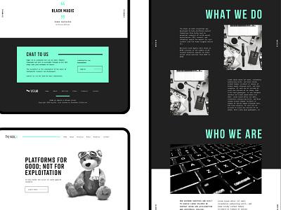 Technical Web Concept flat typography clean ui web branding website brand graphic design design