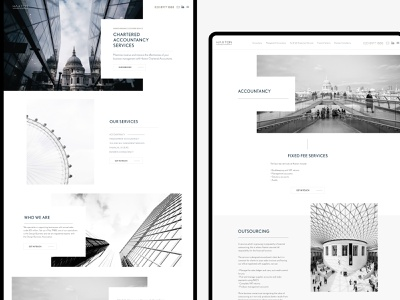 Haxton Accountancy accountants accountancy white website design accountant website accountant clean minimal flat ui web branding website brand graphic design design