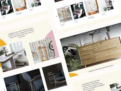 HyggeMe Ecommerce Furniture website shopify design shopify ecommerce design ecommerce furniture website furniture branding design clean typography web branding website brand graphic design design