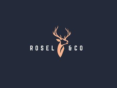 Rosel & Co logo logo design illustration logo branding brand graphic design design