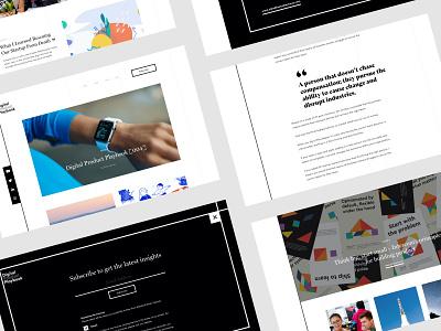Digital Project Playbook Website digital design digital insights website insights blog website blog ui typography web branding website brand graphic design design