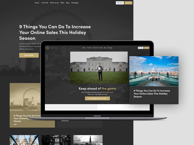 Golden Suite Website design minimal xd design clean graphic design brand vector ios mobile lettering type website flat web app ux typography branding ui logo design