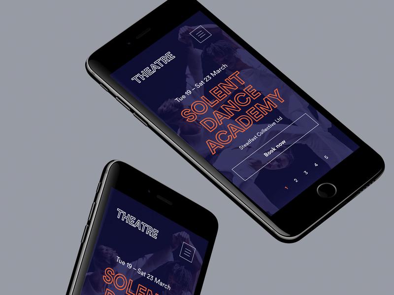 Theatre Mobile clean flat xd design website web ux type typography minimal logo app ui mobile ios lettering graphic design design branding brand