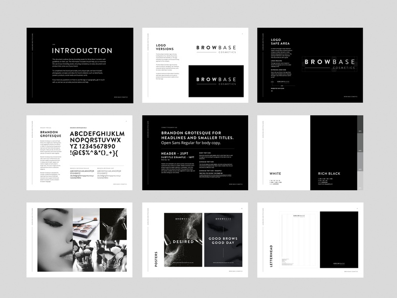 Browbase Brand Guidelines vector icon guidebook black white black black and white flat typography type minimal guides logo brand guidelines guidelines lettering graphic design clean design branding brand