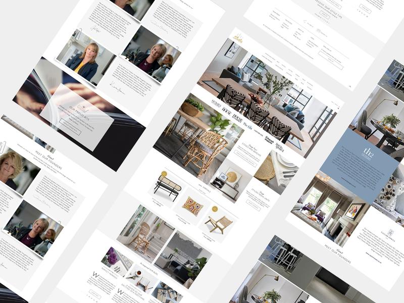 TH2 Studio Ecommerce Website design furniture website ecommerce minimal lettering clean xd design website web type ux ui mobile ios app typography graphic design flat design brand branding