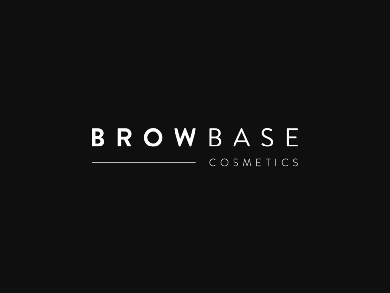 Browbase Cosemetics Logo logotype logo design identity illustrator vector icon logo lettering typography type minimal graphic design flat design clean branding brand