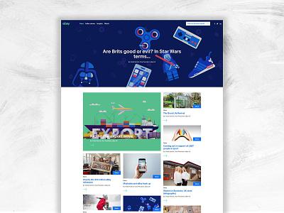 eBay News Site typography news news website ebay ebay design mobile website web branding brand graphic design design