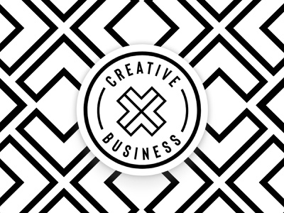 CreativeXBusiness Logo Concept logo typography type event logo event design event branding website web brand branding graphic design design