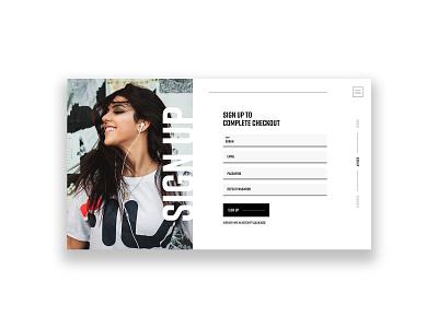 UI Daily Challenge flat graphic design sign up signup design designs ui typography web brand website design signup page signup