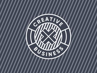 Creative X Business Logo Development logotype badge logo badge flat graphic design logo design vector logo website brand branding design