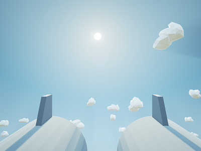 SkyShot low-poly low poly clouds shooter weapon cannon cannons sky 3d unreal engine