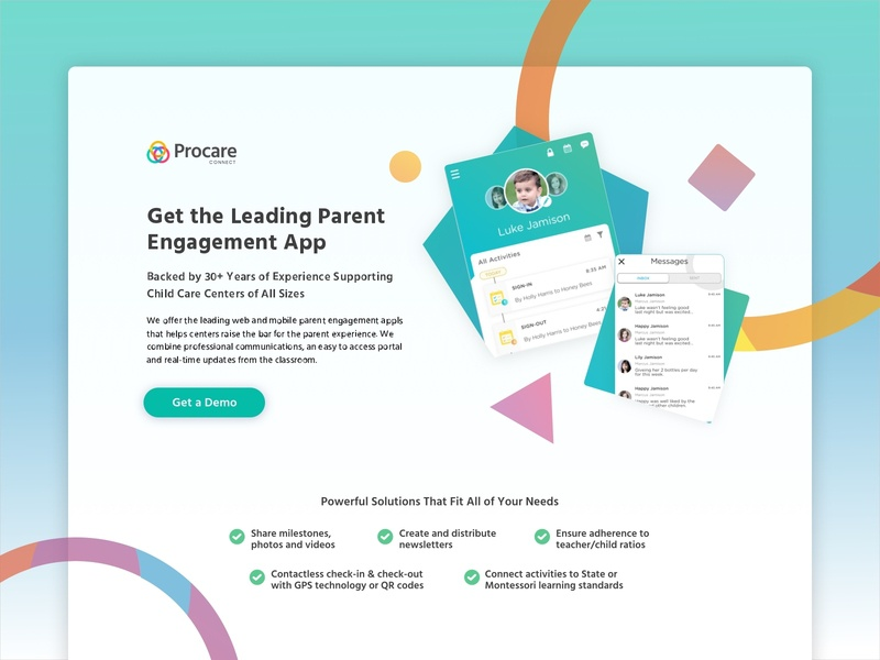Child Care Management Landing Page alaska conversion design software as a service cro marketing agency marketing web design landing page conversion rate optimization child care management child care