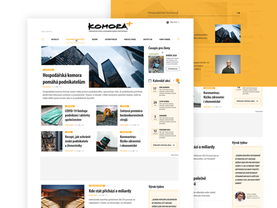 News Portal for Czech Chamber of Commerce website design web design website webdesign web ux ui design