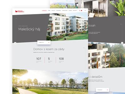Metrostav Development Project website design web design website webdesign web ux ui design