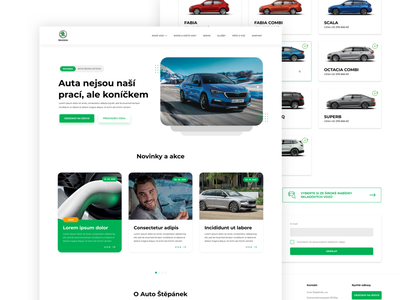 Škoda dealer Website website web design webdesign web ui design ux
