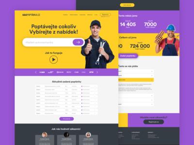 AAAPoptavka website web design webdesign ux ui